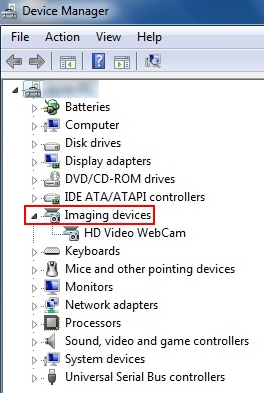 Imaging Device in windows