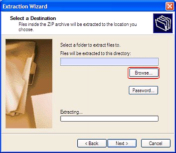 Extraction Wizard in Windows