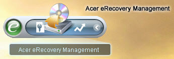 Acer eRecovery Toolbar