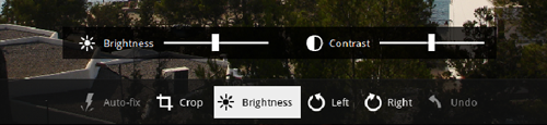 chrome screen brightness