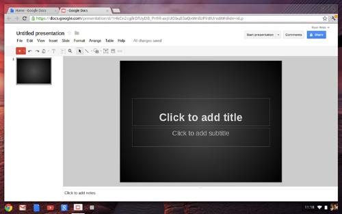 chromebook untitled presentation