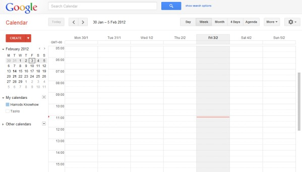Google Chrome Creating a calendar offline