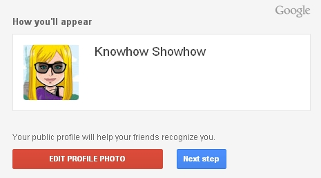 Knowhow Showhow Google username avatar photo