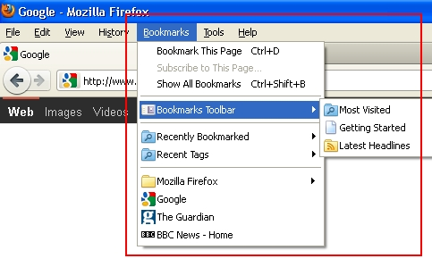 Firefox dropdown box