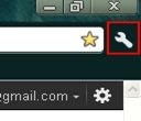 Google chrome wrench icon