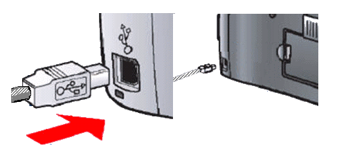 printer usb port how to insert cable