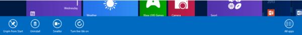 Windows 8 Charm bar Settings window