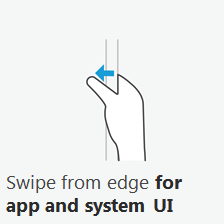 Windows 8 swipe from edge for app and system UI
