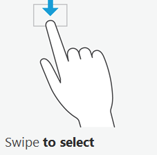 Windows 8 swipe to select