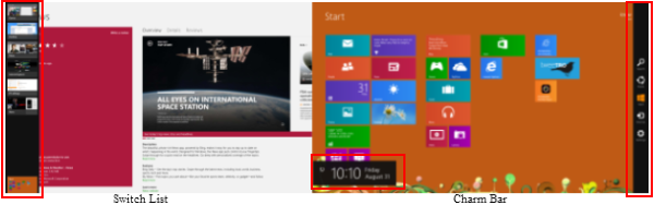 Windows 8 switch list charm bar Knowhow