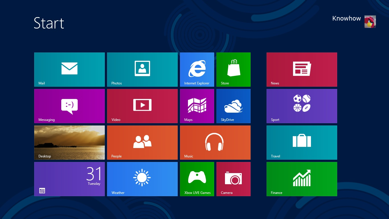 Windows 8 Start Screen Knowhow