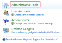 administrative tools in windows