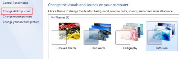 Change desktop icons windows 7