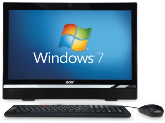 Windows 7 all-in-one computer PC