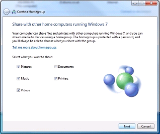 Windows 7 Create a Homegroup