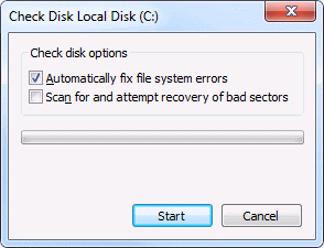 check disk on local drive windows 7