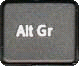 Alt GR key on keyboard for euro symbol