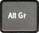 Alt GR key on keyboard for euro symbol