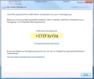 Windows 7 homegroup password