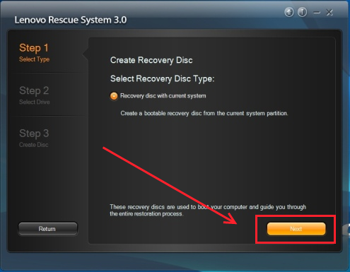 Lenovo rescue recovery disc type