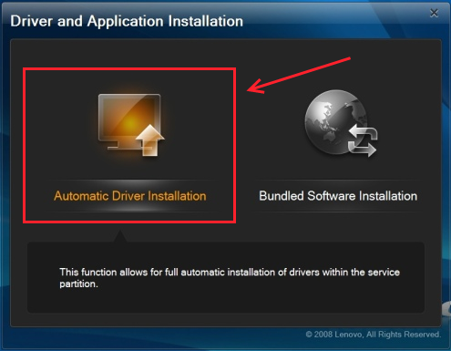 Lenovo driver and application installation