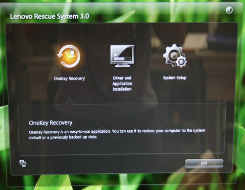 Lenovo OneKey Recovery system