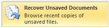 Word Recover Unsaved Documents