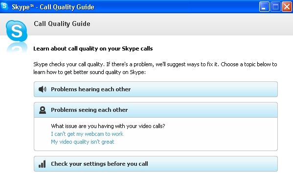 skype can't get webcam to work call quality guide
