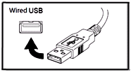 wired USB