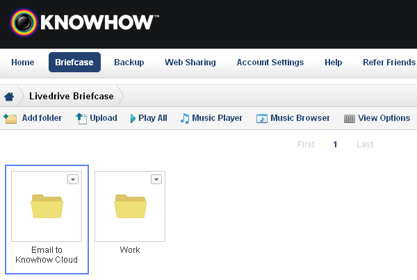 Knowhow briefcase email folder