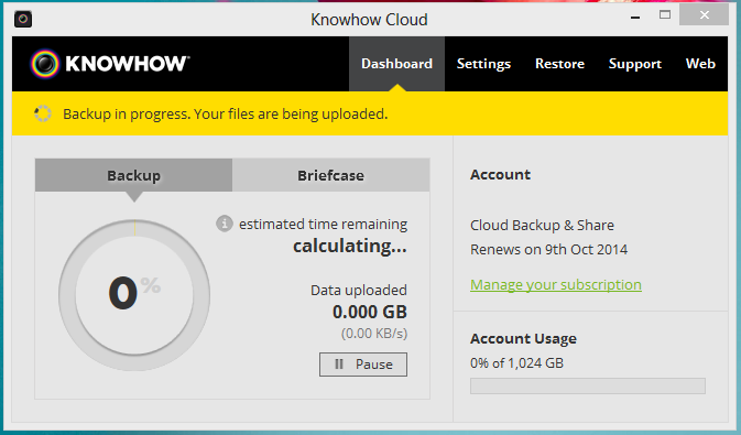 Knowhow Cloud desktop software