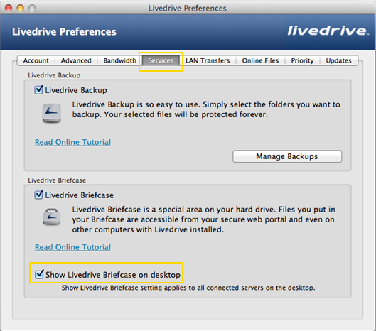 Knowhow Cloud preferences on a Mac