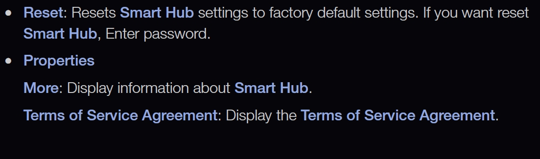 Samsung Smart TV instructions for setting up