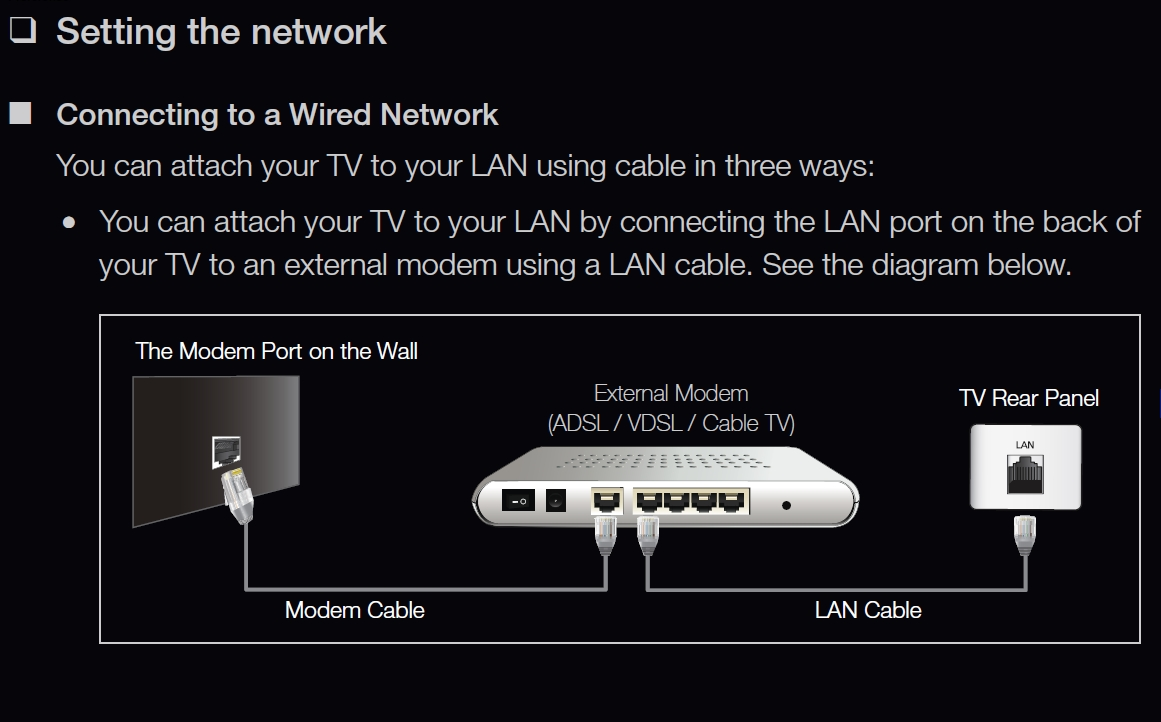 Samsung_Wired_Network_Setup 01 how to setup samsung smart tv to internet gmx mail login ohne samsung tv wiring diagram at readyjetset.co