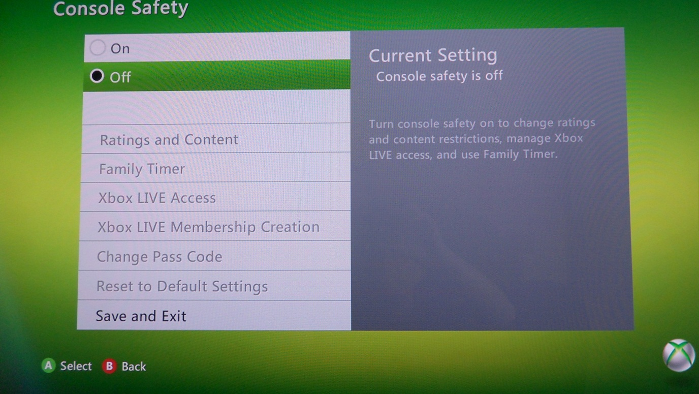 Xbox 360 Family Settings 2